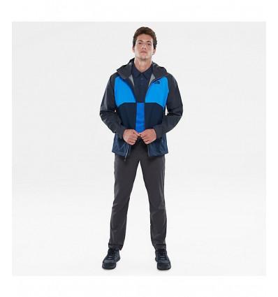 The North Face Men/'s Stratos Jacket Asphalt Grey// Bomber Blue