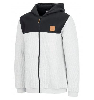 Sweat zippé à capuche Come Zip Hoody Picture (B Grey Melange)